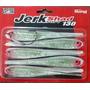Isca Soft Jerk Bait Shad 130 Silicone Mustad Ms Branco Glitt