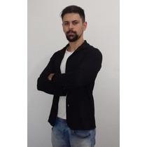 Casaco Xadrez Capuz Blusa Moleton Masculino P M G Gg