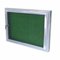 Claviculário 30 Chaves Com Porta De Vidro Alumínio.