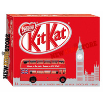 Caixa Exclusiva Chocolate Kit Kat 14 Barras Ao Leite 630g