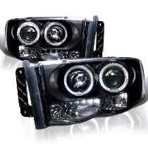 Farol Projector C/ Angel Eyes Dodge Ram 02 / 05