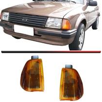 Lanterna Dianteira Pisca Escort 83 84 85 86 Ambar Par