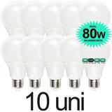 Kit 10  Lampada Bulbo Led 9w A60 Econômica Bivolt 3u 4u E27
