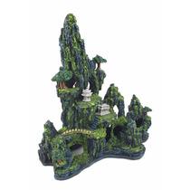 Enfeite De Resina Para Aquário Montanha Chinesa Grande- E24