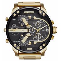 Relógio Diesel Dz7333 Dourado 57mm Original Garantia 1 Ano