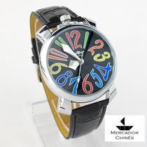Relógio Importado Feminino Dourado Colorido Automático