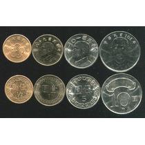 Lote De 04 Moedas De Taiwan 0.5 1 5 10 Yuan Fc