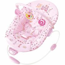Cadeira De Descanso Musical Vibratória Premium Rosa