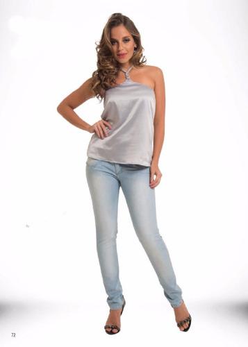 4c8b646de Roupas Femininas/ Calça Jeans Clara Skinny Handara