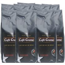 Kit 5kg Café Creme Gourmet Em Grãos Intenso (10x500g)