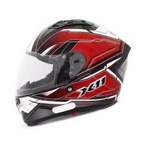 Capacete Moto X11 Impulse Com Viseira Solar Vermelho Tam 60