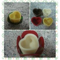 Corações Copinhos De Chocolate (50 Unidades) Para Rechear