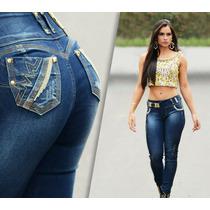 Calça Rhero Jeans Azul Escuro Com Bojo Modela Bumbum
