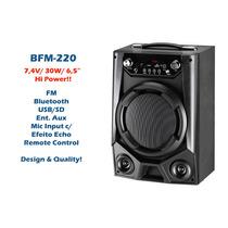 Caixa De Som Amplificada Bateria Bluetooth Bootes Bfm-220