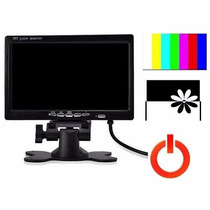 Tela Monitor 7 Polegadas P/ Dvr /cftv/ Dvd/ Camera Ré / Vide