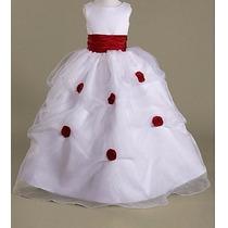 Vestido De Dama De Honra Florista Do 1 Ao 14 Ou Sob Medida