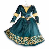 Fantasia Vestido Merida Disney Store Lançamento 9/10 Anos