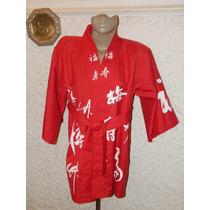 Kimono Quimono Oriental Vermelho