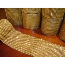 Manta Falso Strass Dourado P/chinelos, Artesanato, Decoração