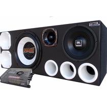 Caixa Trio Hi-fi 5000w Sub Woofer Driver Tw + Módulo Digital