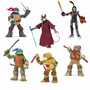 Kit C/ 6: Tartarugas Ninja + Splinter + Casey Jones