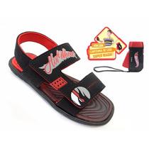 Sandália Infantil Hot Wheels Light Vermelha Grendene Kids
