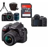 Câmera Nikon D3400 Kit 18-55mm+64gb C/10+bolsa+tripé Em Sp