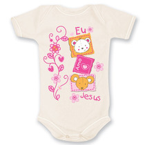 Body Bebê Evangélico Cristão Gospel Eu Amo Jesus