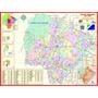 Mapa Do Estado Do Mato Grosso Do Sul - Político -117 X 89 Cm