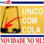 Vidro Iphone 6 5.5 Preto + Aro Moldura Frame + Cola Uv 5ml!