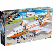 Bloco De Montar Banbao Transporte Avião De Carga 8281