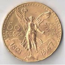 Mexico 50 Pesos 1947 41,7 Gramas Ouro 900 Ou 37,5 De Puro
