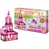 Blocos De Montar Reino Cor De Rosa Castelo Princesa 305 Peçs