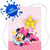 60 Mochilinhas Bolsinhas Personalizadas Mickey Minnie