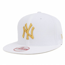 Boné Aba Reta New Era 9fifty New York Yankees Branco Ouro
