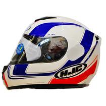 Capacete Hjc Cl-st Racer Branco Azul Vermelho Mc-21 60