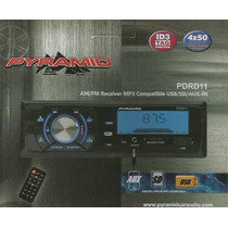 Auto Rádio Automotivo Usb/sd/aux-am/fm Controle Pyramid Pd11