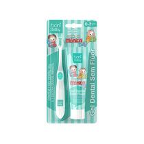 Escova Dental Infantil + Pasta Sem Fluor - Boni Baby Monica