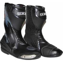 Bota Racing Couro Texx Super Tech Preta