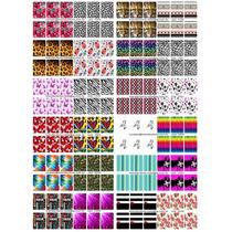 Cartelão Pd24 Cartelas 144 Adesivos Película Unhas Decoradas