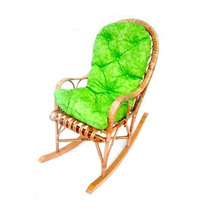 Cadeira De Balanço Vime Com Almofada