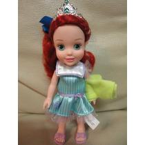 Boneca Baby Princesa Ariel Ruiva Disney Doll Bebe Original