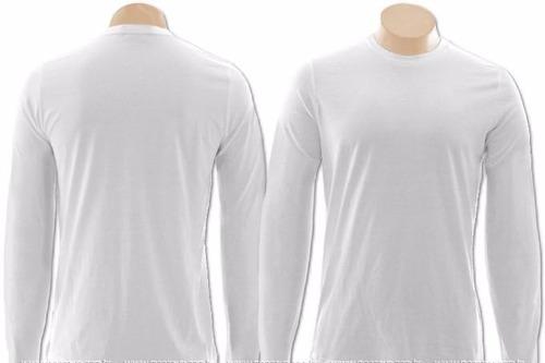 48844f659455a Lote 20 Camisetas Manga Longa 100% Poliéster P  Sublimação