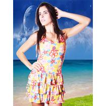 Moda Praia Feminina Vestido Saída De Praia