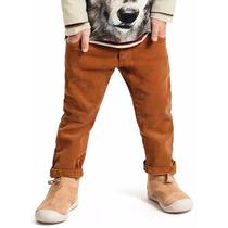 Calça Skinny Masculina Juvenil Marrom Caramelo