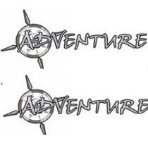Kit Dois Adesivos Adventure Fiat Strada Palio Adven + Brinde