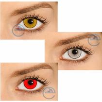 Lentes De Contato Hype, Branca, Vermelha, Amarela - Sem Grau