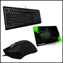Mouse Razer Deathadder 2013 + Razer Cyclosa + Mousepad Combo