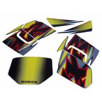 Kit Adesivos Honda Xr 200r 2001 Preta