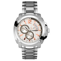 Relógio Guess Gc X78001g1s Prata Garantia 12x Sem Juros